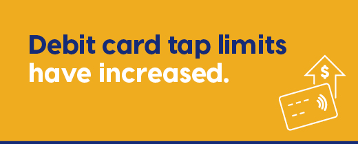 Interac Tap limits have increased